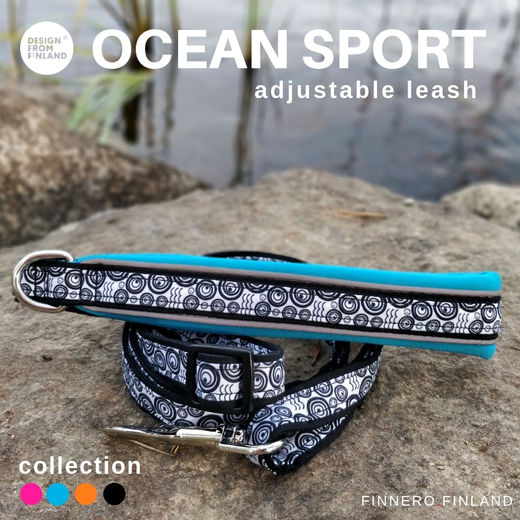 OCEAN SPORT adjustable leash turquoise