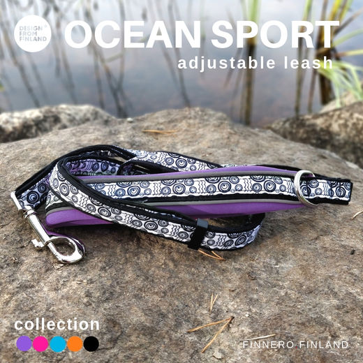 OCEAN SPORT adjustable leash violet