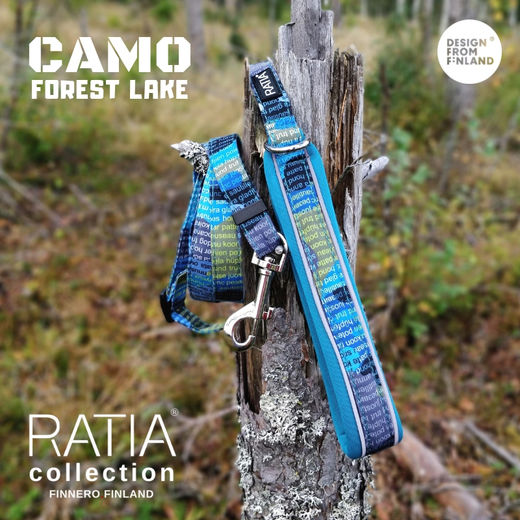 CAMO SPORT adjustable leash Forest lake / turquoise