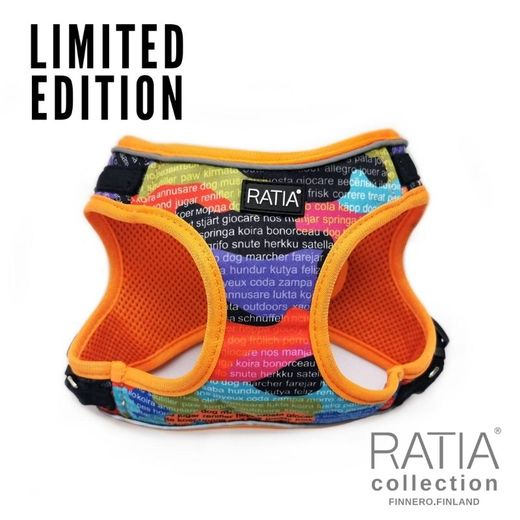 RATIA CAMO double vestharness Rainbow/orange