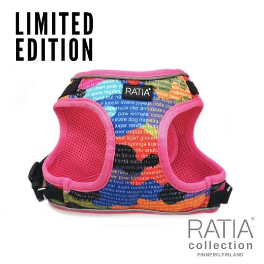RATIA CAMO double vest harness Rainbow/pink