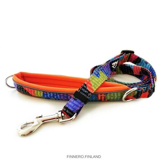 RATIA CAMO adjustable leash with orange padding in handle