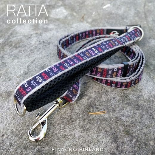 RATIA MESH adjustable leash black / red Grafico pattern