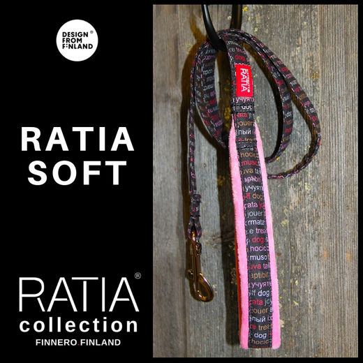 RATIA soft leash pink