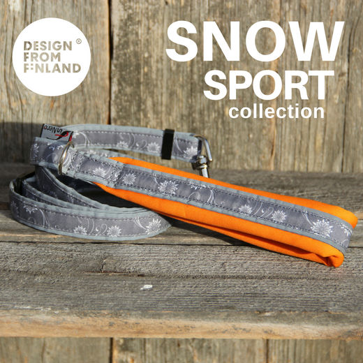 SNOW SPORT adjustable leash orange