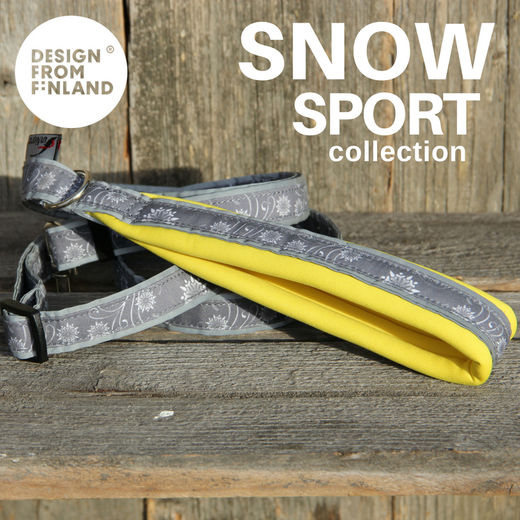 SNOW SPORT adjustable leash yellow