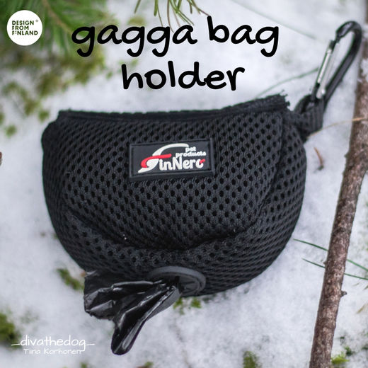 Black gagga bag holder photo: Tiina Korhonen